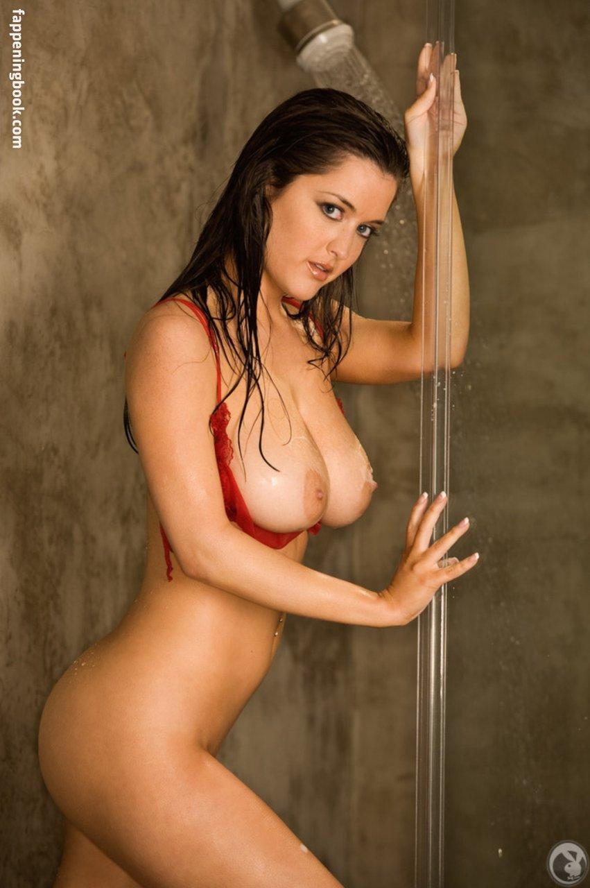 Naked girl taking bath